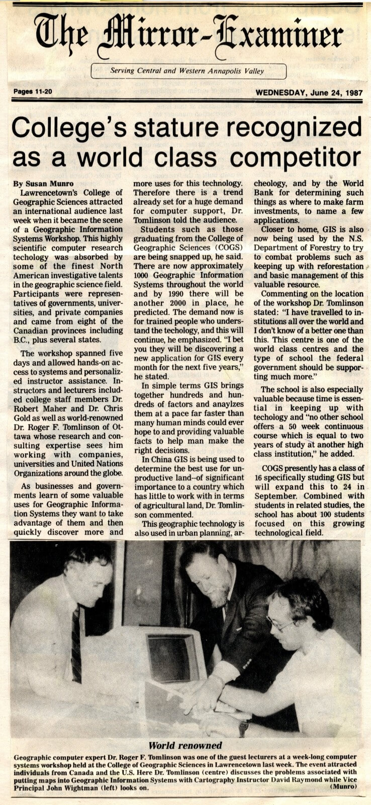 Mirror Examiner Article June 24 1987